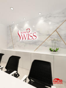 Service Reception Feature wall Design